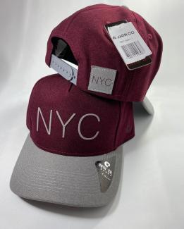 BONÉ NEW YORK BORDO ABA CINZA