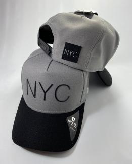 BONÉ NEW YORK CINZA ABA PRETO
